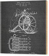 Capps Machine Gun Patent Drawing From 1902 - Dark Wood Print