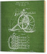 Capps Machine Gun Patent Drawing From 1902 - Green Wood Print
