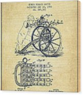 Capps Machine Gun Patent Drawing From 1902 - Vintage Wood Print