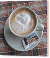 Cappuccino Love Wood Print