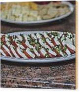 Caprese Salad Wood Print