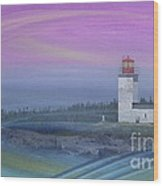 Capricious Lighthouse... Wood Print