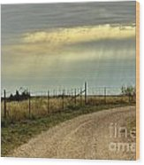Caprock Canyon-country Road Wood Print