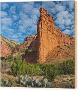 Caprock Canyon Rim Wood Print