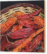 Capsicum Baccatum Chilis Wood Print