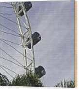 Capsules And Structure Of The Singapore Flyer Along With The Spokes Wood Print