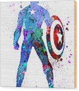 Captain America 2 Wood Print