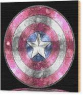 Captain America Shield Digital Painting Metal Print