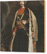 Captain Colin Mackenzie In His Afghan Wood Print by James Sant