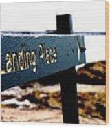 Captain Cooks Landing Place Wood Print