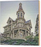 Captain George Flavel Victorian House - Astoria Oregon Wood Print