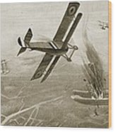 Captain Hawkers Aerial Battle Wood Print