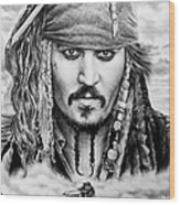 Captain Jack Sparrow 2 Wood Print