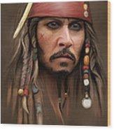 Captain Jack Sparrow Wood Print