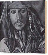 Captain Jack Sparrow Wood Print by Lori Keilwitz
