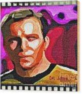 Captain James T Kirk Wood Print