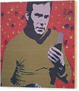 Captain Kirk Wood Print