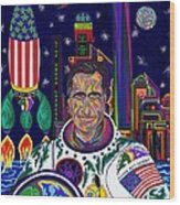Captain Mitt Romney - American Dream Warrior Wood Print by Robert SORENSEN