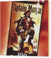 Captain Morgan Red Toned Wood Print
