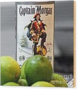 Captain Morgan Wood Print