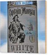 Captain Morgan White Rum Wood Print