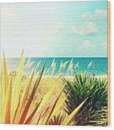 Captiva Island Photography Light Leaks Wood Print