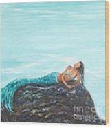 Captivating Mermaid Wood Print