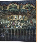 Captive On The Carousel Of Time Wood Print