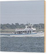 Captree's Captain Gregory Heading Out To Sea Wood Print