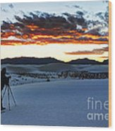 Capturing The Sunset Wood Print