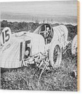 Car Accident, Bob Burmans Car Wood Print