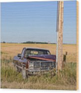 Car Accident Wood Print