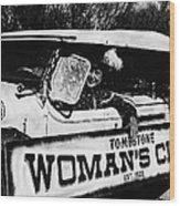 Car And Driver In Helldorado Days Parade In Tombstone Arizona 1967 Wood Print