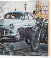 Car And Sidecar Wood Print