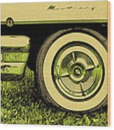 Car And Tire Wood Print