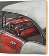 Car - Classic 50's  Wood Print by Mike Savad