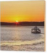 Car Ferry Leaving Steilacoom Wood Print