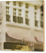 Car In Miniature Wood Print