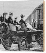 Car Race, 1908 Wood Print