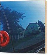 Car Reflection 8 Wood Print