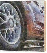 Car Rims 01 Photo Art 02 Wood Print