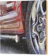 Car Rims 02 Photo Art 02 Wood Print