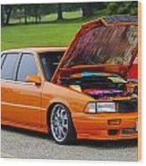 Car Show 026 Wood Print