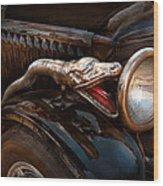 Car - Steamer - Snake Charmer  Wood Print by Mike Savad
