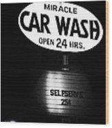Car Wash Wood Print by Tom Mc Nemar