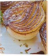 Caramelized Balsamic Onions Wood Print