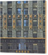 Carbide And Carbon Building Wood Print by Adam Romanowicz