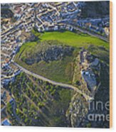 Carcabuey Castle From The Air Wood Print