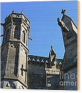 Carcassonne's Cathedral Wood Print by France  Art