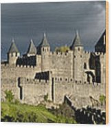 Carcassonne Panorama Wood Print